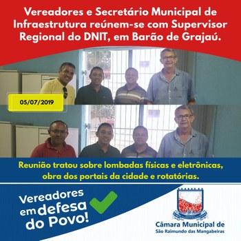 reunião com DNIT em Barão de Grajaú