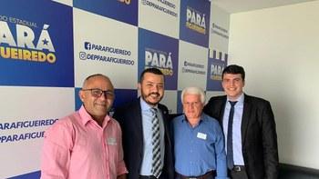 reunião com o deputado Pará Figueiredo