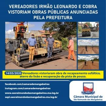 Vereadores Irmão Leonardo e Cobra vistoriam obras públicas anunciadas pela Prefeitura 04