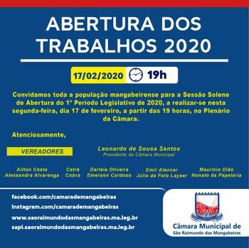 Início trabalhos 2020