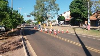 Instalação faixas de pedestres em mangabeiras DNIT