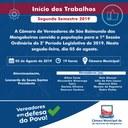 2° período legislativo de 2019 da Câmara de Mangabeiras inicia nesta segunda-feira (05)