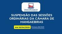 Câmara de Mangabeiras continua com atividades suspensas devido ao coronavírus