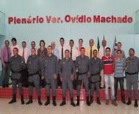 Câmara recepciona novos policiais militares que estão atuando na cidade