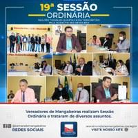 Confira resumo da 19° Sessão Ordinária (06/09)