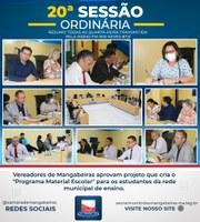Confira resumo da 20° Sessão Ordinária (13/09)