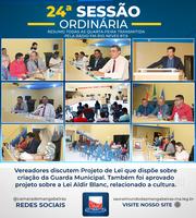 Confira resumo da 24° Sessão Ordinária (11/10)