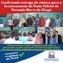 Confirmada entrega de viatura para o funcionamento do Posto Policial do Povoado Morro do Chupé