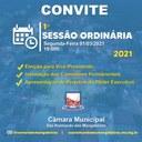 CONVITE - 1° Sessão Ordinária de 2021