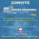 Ordem do Dia - 3° Sessão Ordinária de 2021