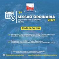 Ordem do Dia - 7° Sessão Ordinária (19/04)