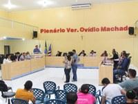 Prefeito e vereadores eleitos participam de Sessão da Câmara Municipal de Mangabeiras