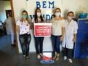 Vereadora Josemara (PC do B) visita vacinação de idosos
