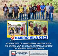 Vereadores de Mangabeiras fazem visita ao Bairro Vila Ceci para tratar a respeito do abastecimento de água.